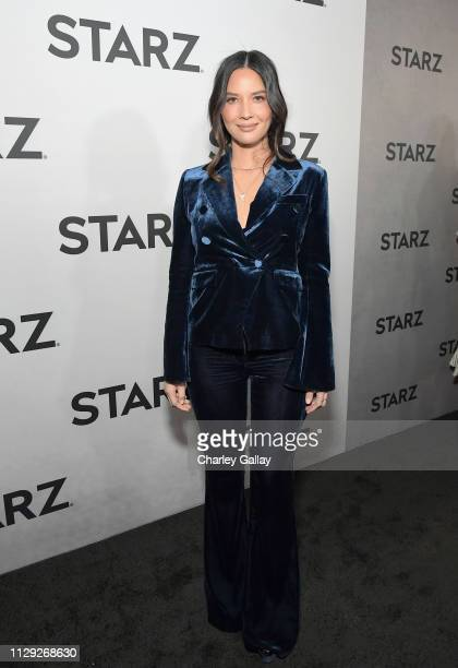 Olivia Munn attends the Starz 2019 Winter TCA Panel AllStar After Party on February 12 2019 in Los Angeles California