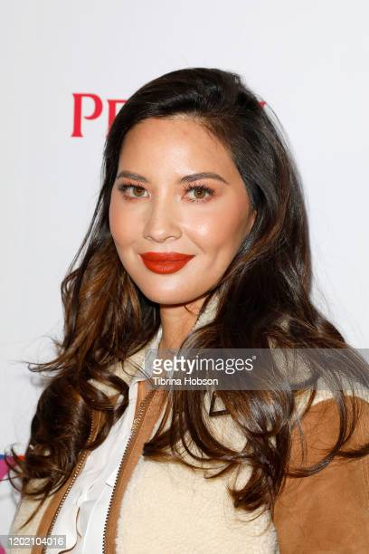 Olivia Munn attends the The Creative Coalition's Spotlight Initiative Gala Awards Dinner - Arrivals at Kia Telluride Supper Suite on January 25, 2020...
