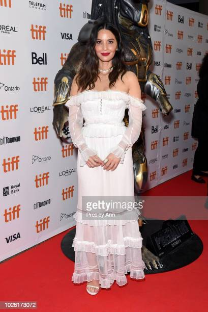 Olivia Munn attends the The Predator premiere during the 2018 Toronto International Film Festival at Ryerson Theatre on September 6 2018 in Toronto...