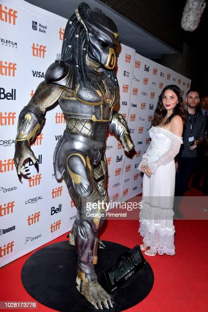 """Olivia Munn attends the """"The Predator"""" premiere during the 2018 Toronto International Film Festival at Ryerson Theatre on September 6, 2018 in..."""