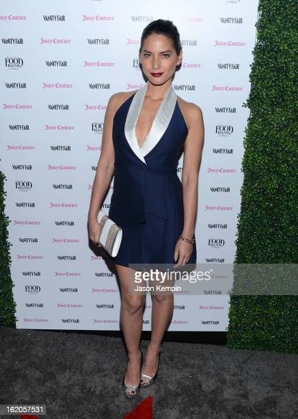 Olivia Munn attends the Vanity Fair And Juicy Couture Celebration Of The 2013 Vanities Calendar With Olivia Munn at Chateau Marmont on February 18...
