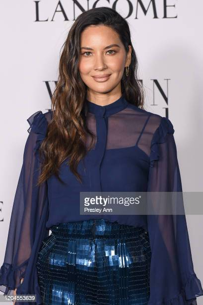 Olivia Munn attends the Vanity Fair and Lancôme Women in Hollywood celebration at Soho House on February 06, 2020 in West Hollywood, California.