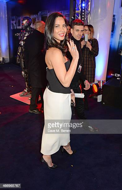 Olivia Munn attends the World Premiere of 'RoboCop' at the BFI IMAX on February 5 2014 in London England