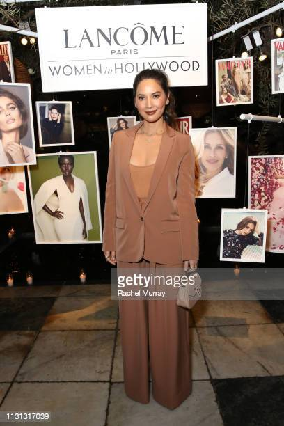 Olivia Munn attends Vanity Fair and Lancôme Toast Women In Hollywood on February 21, 2019 in West Hollywood, California.