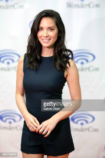 Olivia Munn attends WonderCon Anaheim 2014 Screen Gems' 'Deliver Us From Evil' Photo Call at Anaheim Convention Center on April 19 2014 in Anaheim...