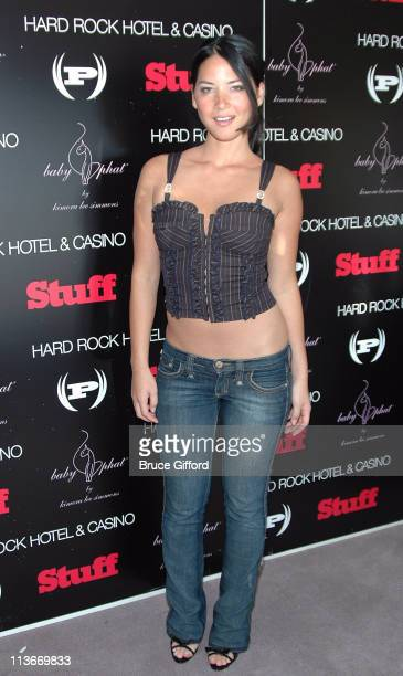 Olivia Munn during Phat Farm Baby Phat and Stuff Magazine Gifting Lounge August 12 2006 at The Hard Rock Hotel and Casino in Las Vegas Nevada United...