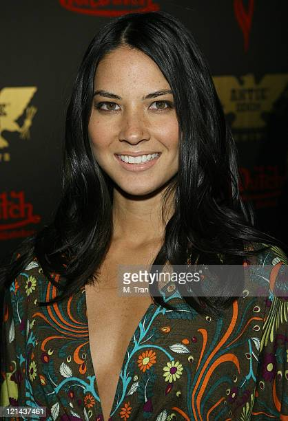Olivia Munn during Playboy Magazine February Cover Girl Celebration for Tricia Helfer at Les Deux in Hollywood California United States