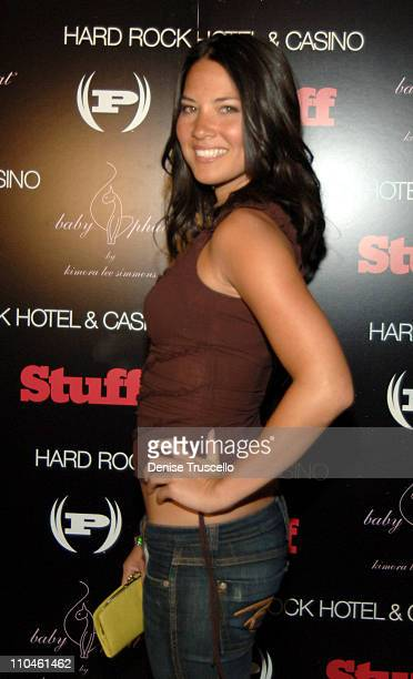 Olivia Munn during STUFF Magazine Music Issue Weekend Poker Tournement Hosted By Phat Farm Baby Phat and STUFF Magazine at The Hard Rock Hotel and...
