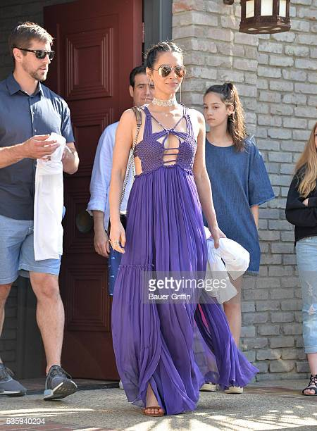 Olivia Munn is seen at Joel Silver's annual Memorial Day beach party in Malibu on May 30 2016 in Los Angeles California