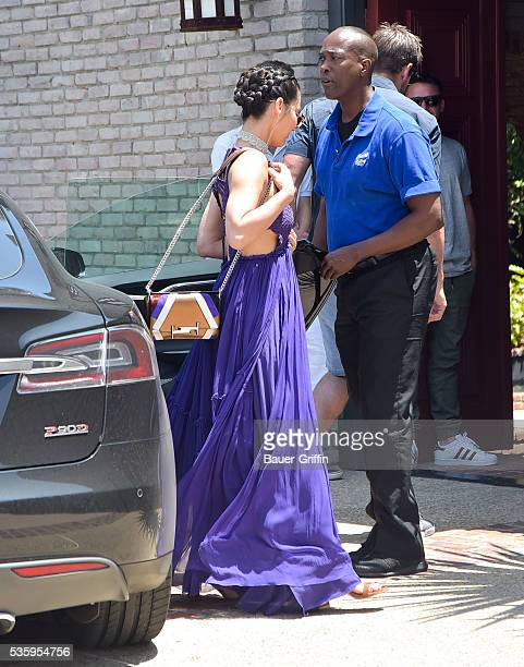 0584947c2fd Olivia Munn is seen at Joel Silver s annual Memorial Day beach party in  Malibu on May