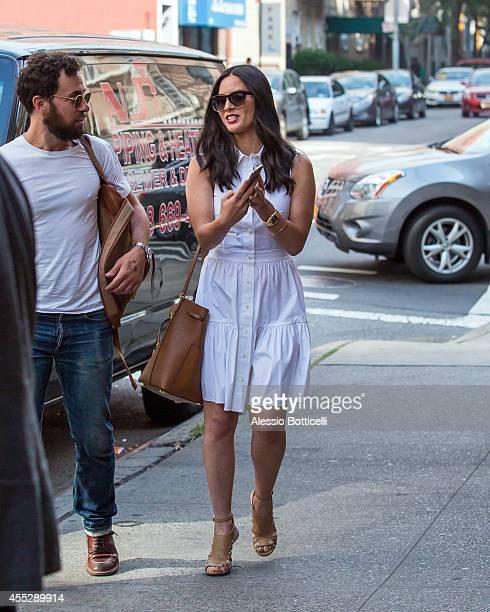 Olivia Munn is seen leaving Felice 83 Restaurant after lunch on September 11 2014 in New York City