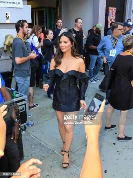 Olivia Munn is seen on July 19 2018 in San Diego California