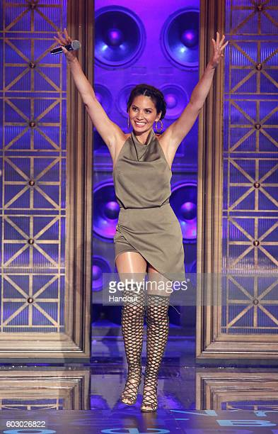 Olivia Munn performs onstage during Spike TV's Lip Sync Battle All Stars Live on September 11 2016 in Studio City California