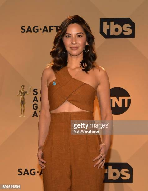 Olivia Munn poses during the 24th Annual SAG Awards Nominations Announcement at SilverScreen Theater at the Pacific Design Center on December 13 2017...