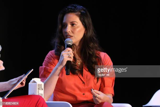 Olivia Munn speaks during the 2019 Forbes 30 Under 30 Summit at Detroit Masonic Temple on October 27, 2019 in Detroit, Michigan.