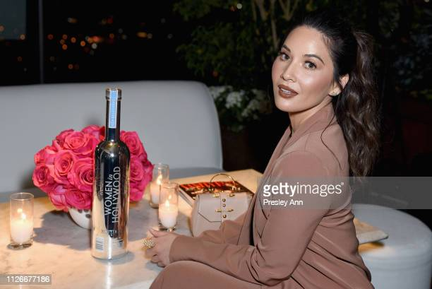 Olivia Munn, Vanity Fair x Lancôme Paris With Belvedere Vodka Raise A Glass To Toast Women In Hollywood on February 21, 2019 in Los Angeles,...