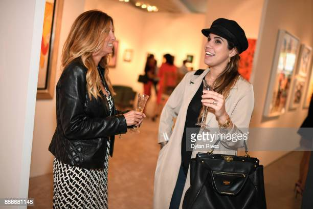 Olivia Namath and guest attend the Art Miami CONTEXT 2017 at Art Miami Pavilion on December 5 2017 in Miami Florida