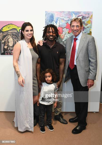 Olivia Namath Edwin Baker and Joe Namath attend the Palm Beach Modern Contemporary VIP Opening Preview Presented By Art Miami on January 11 2018 in...