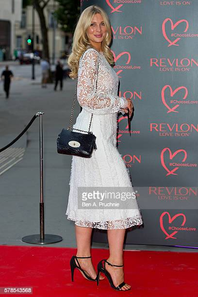Olivia Newman Young arrives for the Revlon Choose Love Masquerade Ball at Victoria and Albert Museum on July 21 2016 in London England