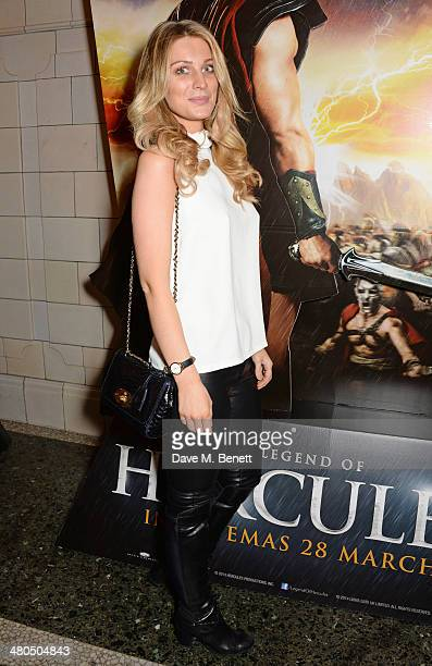 Olivia NewmanYoung attends a VIP screening of The Legend Of Hercules at The Courthouse Hotel on March 25 2014 in London England