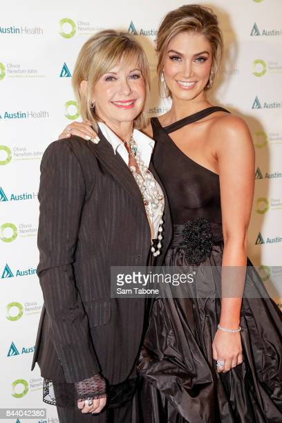 Olivia Newton John and Delta Goodrem attends the Olivia NewtonJohn Gala Red Carpet at Crown Palladium on September 8 2017 in Melbourne Australia