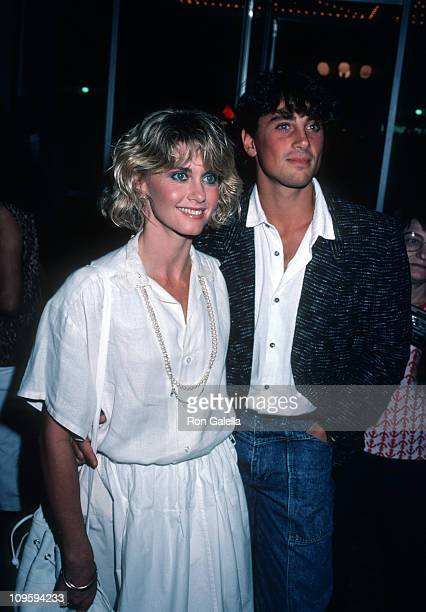 Olivia Newton John and Matt Lattanzi during ABC TV Fall Season Party at Century Plaza Hotel in Los Angeles, California, United States.