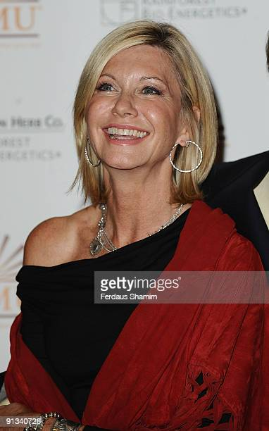 Olivia Newton John attends the showcase for the Amazon Herb Company/Zamu Health drink on October 2 2009 in London England