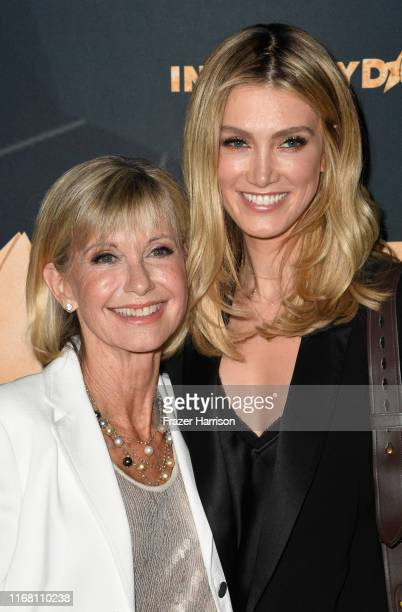 Olivia NewtonJohn and Delta Goodrem attend the 2019 Industry Dance Awards at Avalon Hollywood on August 14 2019 in Los Angeles California