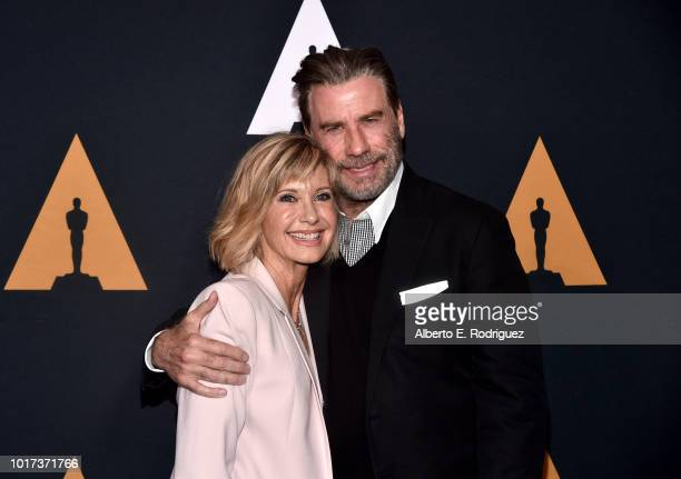 US actor John Travolta on the red carpet as he arrives for the 40th anniversary celebration of the movie 'Grease' at the Academy of Motion Picture...