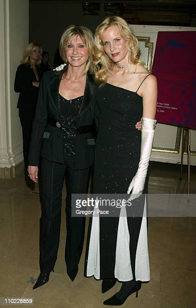 Olivia NewtonJohn and Lori Singer during Tribute to Olivia NewtonJohn at the One World One Child Benefit at The Plaza Hotel in New York City New York...
