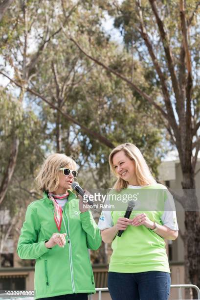 Olivia NewtonJohn and Melissa Doyle during the annual Wellness Walk and Research Runon September 16 2018 in Melbourne Australia The annual event now...