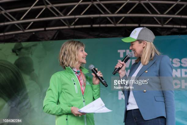 Olivia NewtonJohn and Melissa Doyle during the annual Wellness Walk and Research Run on September 16 2018 in Melbourne Australia The annual event now...