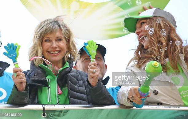 Olivia NewtonJohn and Tottie Goldsmith looks on during the annual Wellness Walk and Research Runon September 16 2018 in Melbourne Australia The...