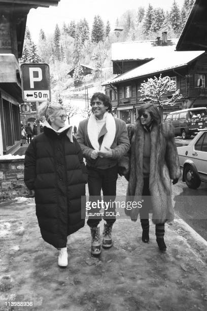 Olivia NewtonJohn and Victoria Principal In Switzerland On December 26 1984Olivia NewtonJohnVictoria Principal and her husband on winter holidays in...