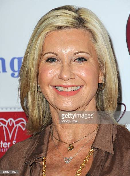 Olivia NewtonJohn arrives at the 2nd Annual Women's Tea for Easter Seals inside the Four Seasons Hotel Las Vegas on August 18 2014 in Las Vegas Nevada