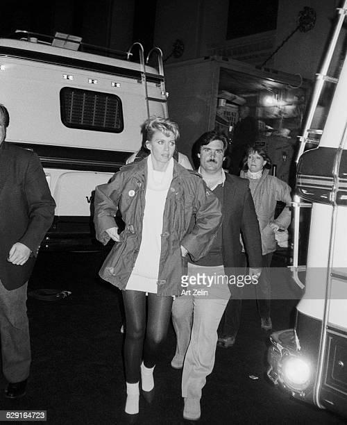 Olivia NewtonJohn at the filming of Grease New York 1978