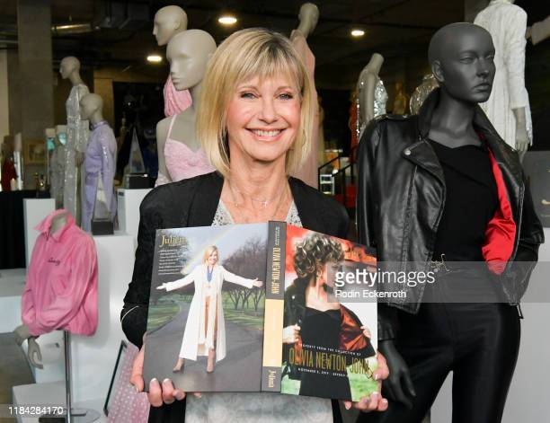 Olivia NewtonJohn attends the VIP reception for upcoming Property of Olivia NewtonJohn Auction Event at Julien's Auctions on October 29 2019 in...