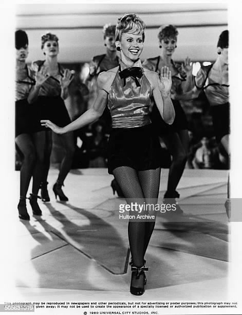 Olivia NewtonJohn dances in a scene in the Universal Studio movie 'Xanadu' circa 1979