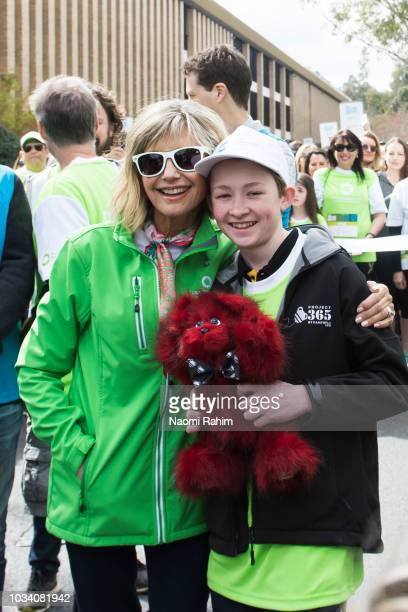 Olivia NewtonJohn during the annual Wellness Walk and Research Run on September 16 2018 in Melbourne Australia The annual event now in it's sixth...