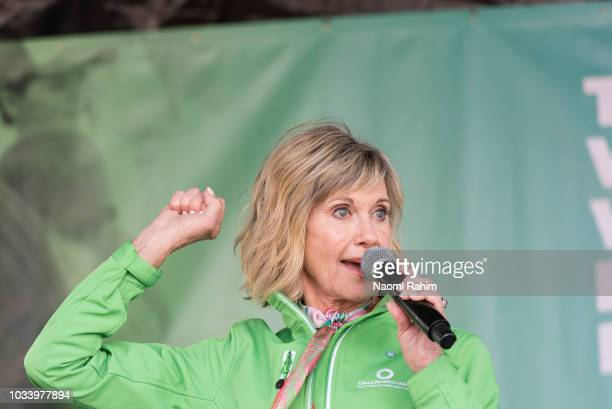 Olivia NewtonJohn during the annual Wellness Walk and Research Runon September 16 2018 in Melbourne Australia The annual event now in it's sixth year...