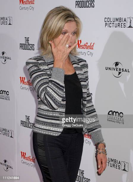 Olivia NewtonJohn during Universal Pictures' The Producers World Premiere Arrivals at Westfield Century City in Century City California United States
