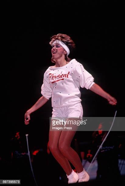 Olivia NewtonJohn in concert circa 1982 in New York City