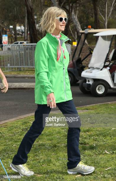 Olivia NewtonJohn looks on during the annual Wellness Walk and Research Runon September 16 2018 in Melbourne Australia The annual event now in it's...