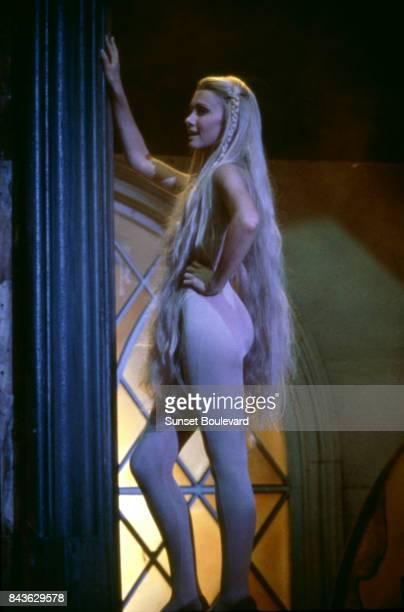 Olivia NewtonJohn on the set of Hollywood Nights directed by Jeff Margolis