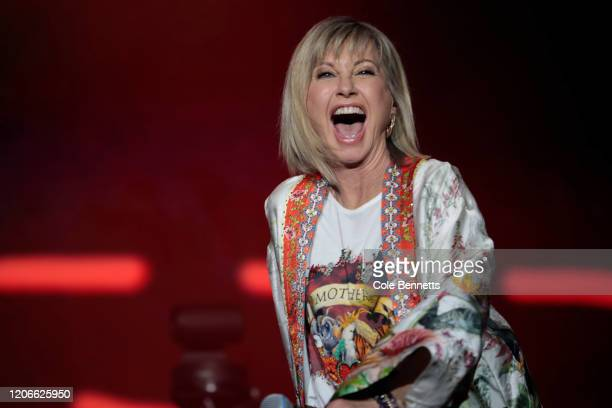 Olivia NewtonJohn performs during Fire Fight Australia at ANZ Stadium on February 16 2020 in Sydney Australia