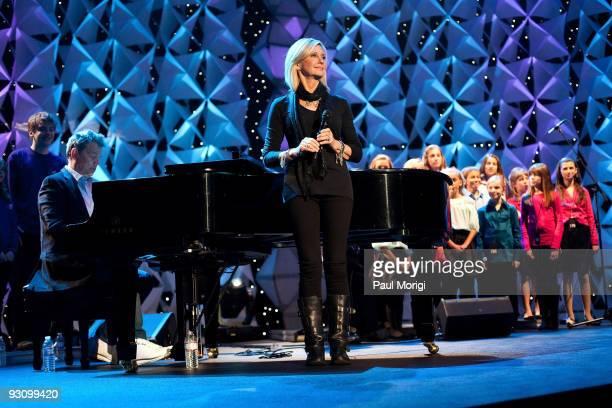 Olivia NewtonJohn rehearses at Kaleidoscope presented by sanofiaventis US airing nationally on Thanksgiving Day on FOX at Verizon Center on November...