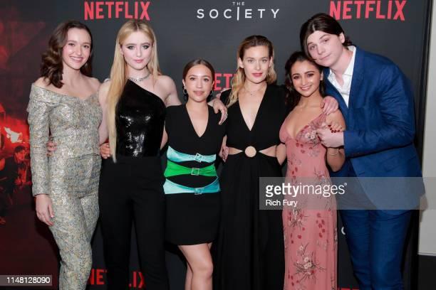 Olivia Nikkanen Kathryn Newton Gideon Adlon Rachel Keller Salena Qureshi and Jack Mulhern attend a special screening for Netflix's The Society Season...