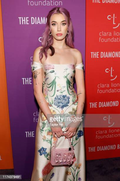 Olivia O'Brien attends the 5th Annual Diamond Ball benefiting the Clara Lionel Foundation at Cipriani Wall Street on September 12 2019 in New York...