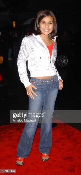 Olivia Olson attends the world premiere of Love Actually held at the Ziegfeld Theater November 6 2003 in New York City