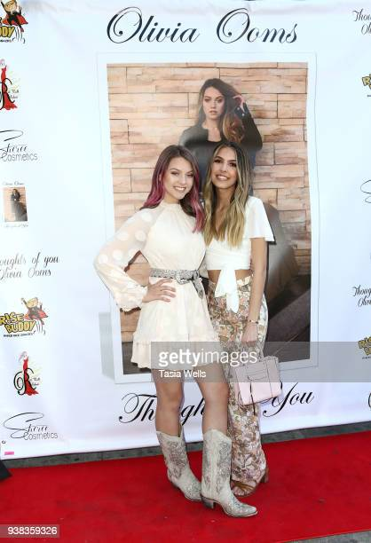 Olivia Ooms and Aliyah Moulden attend Olivia Ooms EP Release Party at The Mint on March 25 2018 in Los Angeles California